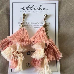 Ettika pink tassel earrings from fab fit fun.